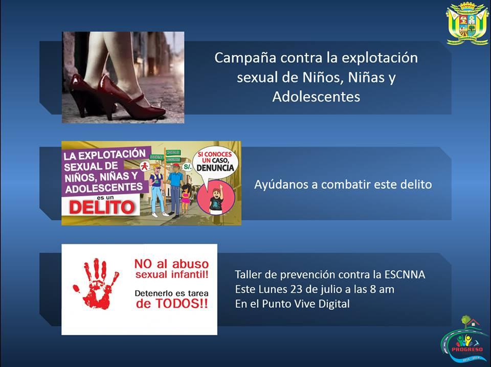 CAMPAÑA CONTRA LA EXPLOTACIÓN SEXUAL DE NIÑOS, NIÑAS Y ADOLESCENTES.