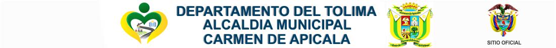 Alcaldía Municipal de Carmen de Apicalá – Tolima – 2020 – 2023 Logo