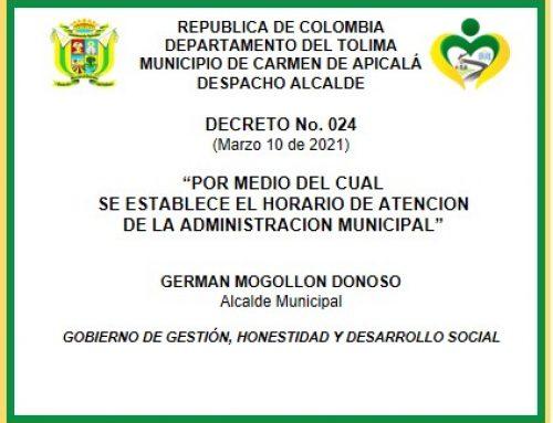 DECRETO No. 024 DE 2021