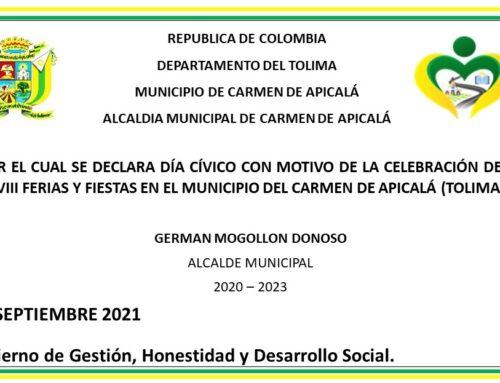 DECRETO NO 083 (29 DE SEPTIEMBRE DEL 2021)