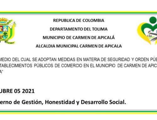 DECRETO No 086 (5 DE OCTUBRE DEL 2021)